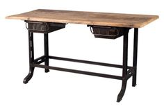 Midcentury French Industrial Desk