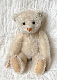 "Little white bear (10"") inspired by an early steiff bear"