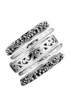 Lois Hill Five Stack Ring Set.have a Lois Hill bracelet.would love the ring set. Cute Jewelry, Body Jewelry, Silver Jewelry, Jewelry Accessories, Jewelry Design, Silver Rings, Bullet Jewelry, Jewellery, Gothic Jewelry