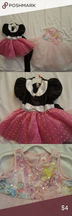 Bundle Dresses for 2 years old Girls Pink Bundle Dresses for 2 years old Girls Pink,  Light Pink Dress is Cherokee 2T  Mini mouse pink and Black Dress 2T Cherokee Dresses Formal