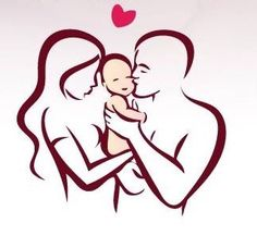 Illustration about Happy family stylized vector symbol, young parents and child. Illustration of romantic, line, sketch - 76612325 Pencil Art Drawings, Art Drawings Sketches, Easy Drawings, Tattoo Famille, Father And Baby, Mother Son, String Art, Line Drawing, Line Art