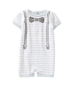 Treasures by Starting Out Striped Bowtie Sweater Romper #Dillards