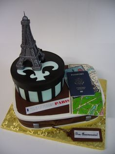 This cake would be great since I'm getting on a plane the very next day to Paris!
