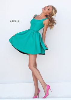 Sweet 16 Sherri Hill 50330 Emerald No Beads Short Homecoming Dress 2016 Homecoming Dresses, Sherri Hill Prom Dresses, Hoco Dresses, Pretty Dresses, Formal Dresses, Mode Style, Couture Dresses, Special Occasion Dresses, Holiday Dresses