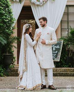 Desi Wedding Dresses, Pakistani Wedding Outfits, Indian Bridal Outfits, Indian Bridal Fashion, Pakistani Bridal Dresses, Party Dresses, Beautiful Pakistani Dresses, Bridal Photoshoot, White Bridal