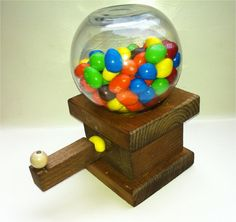 Gumball and Candy Machine HandCrafted Wood Mr. by WoodSmith, $10.95