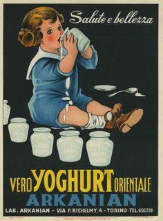 Pubblicità yoghurt orientale Arkanian 1900-1950