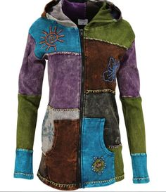 Tree of Life Patchwork Hooded Jacket from TheAnimalRescueSite