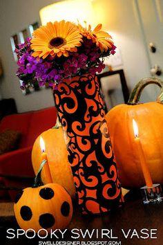 Halloween Spooky Swirl Vase