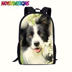 Leather Set Of Cute Dogs Corgi Backpack Daypack Bag Women