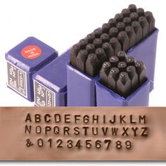 "Economy Block Uppercase Letter & Number Stamp Set 3/32"" (2.4mm)"