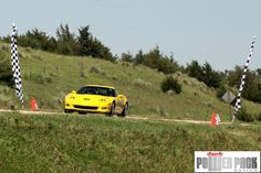 A #Corvette crosses the finish line at the 2011 Sandhills Open Road Challenge