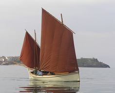 Boats in the Bay | replica 19th century fishing luggers | St Ives Cornwall