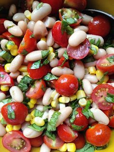 A Healthy Makeover: Tomato Cannellini Salad