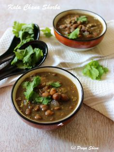 Kala Chana Shorba / Black Chickpeas Soup