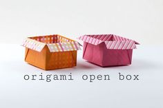 Origami Open Box with Flaps Tutorial!