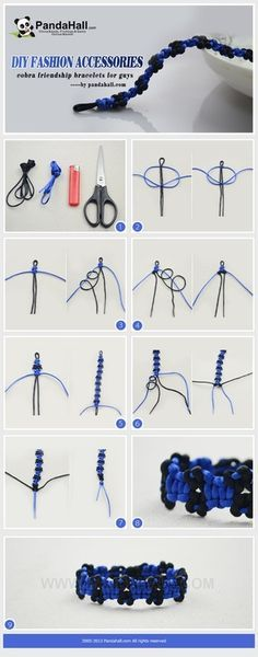 Jewelry Making Tutorial--DIY Cobra Friendship Bracelets for Guys | PandaHall Beads Jewelry Blog
