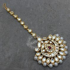 Suhair Maang Tikka by Indiatrend. Shop Now at WWW.INDIATRENDSHOP.COM