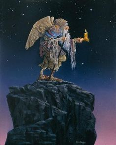 James Christensen - Oldest Angel - Giclee on Canvas Complete colection of art, limited editions, prints, posters and custom framing on sale now at Prints. Illustrations, Illustration Art, Angels Among Us, Angel Art, Fantastic Art, Limited Edition Prints, American Artists, Gnomes, Art Gallery