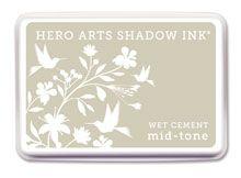 *Hero Arts Shadow Ink Pad WET CEMENT Mid-Tone 2012 AF213