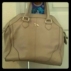 Emma fox leather bag Tan leather, gently used ! Emma fox  Bags Totes