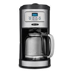 BELLA Classics 12 Cup Programmable Coffee Maker Bold Brew Stainless and Chrome ** Details can be found by clicking on the image.Note:It is affiliate link to Amazon. #igaddict