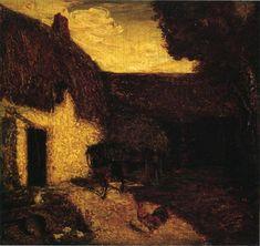 1874 The Barnyard - Albert Pinkham Ryder. Tonalismo