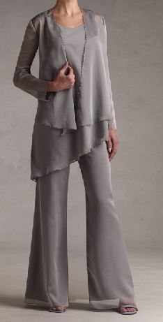 Image detail for -... evening suit flare trouser flowing jacket evening mother of the bride  For: Grandma