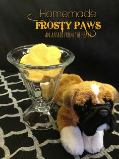 'Ice Cream' for your dog DIY Homemade Frosty PAws