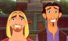 Miguel and Tulio, The Road to Eldorado pretty much exactly me and my best friends face when we have to interact with people besides each other