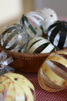 Collecting the Moments... one by one: Handcrafted Holiday ~ Paper Ball Ornaments