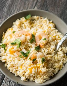 Slow Cooker Coconut Rice and Mango Shrimp | AllFreeSlowCookerRecipes.com