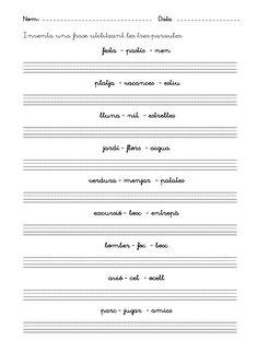 Fitxes escriptura inicial by Laia Lila via slideshare