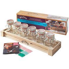 Kilner 20 Piece Spice Jar Gift Set | Spice Jars Kilner Jars Spice Rack - Buy at drinkstuff