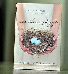 1000 Gifts Collection  A Best Selling Book by Ann Voskamp.  A Dare to live FULLY right where you are.