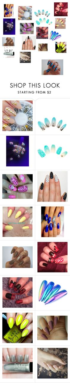 """nail set 1"" by cristalspeed ❤ liked on Polyvore featuring beauty and GUiSHEM"