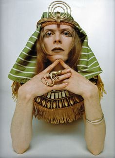 David Bowie as The Sphinx, 1969 by Brian Ward. I like to think it reflects the cultural soup that birthed me that year.