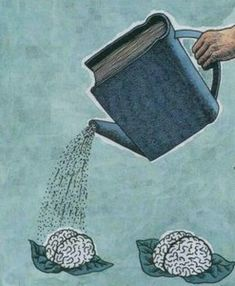 "Leggere fa bene al cervello. (Italian ""Reading is good for the brain. Nuture the brain with good books. Reading benefits the brain. Left brain is smaller then the right. I Love Books, Books To Read, My Books, Free Books, Book Nooks, Love Reading, Reading Books, Reading People, Reading Art"