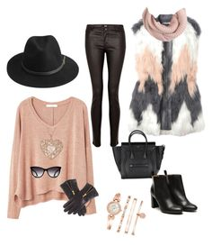 Casual outfit by angelamaena on Polyvore featuring polyvore, fashion, style, MANGO, Rebecca Taylor, Paige Denim, Stephane Kélian, Anne Klein, BeckSöndergaard and J.Crew