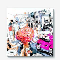 Холст Малиновое мороженое, Автор: Александра  Косячная, Цена: 2000 р.