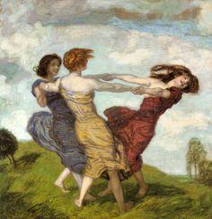 Franz von Stuck  |  Spring dance
