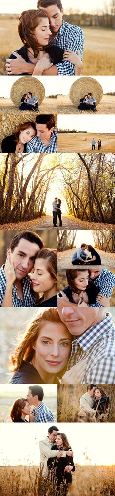 Love these photo-shoot ideas. The hay-bales, and the beautiful colors in the fields make a perfect backdrop!