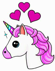 Creative Draw A Monster Ideas. Exacting Draw A Monster Ideas. Unicorn Drawing, Unicorn Art, Cute Unicorn, Unicorn Emoji, 3d Drawings, Cute Animal Drawings, Kawaii Girl Drawings, Unicornios Wallpaper, Cute Kawaii Girl