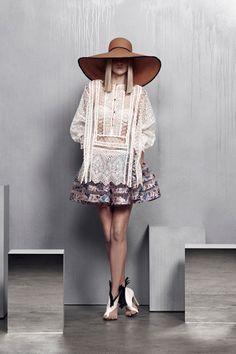 Riot Eyelet Shirt, Riot Suspend Skirt, Hatmaker Oversize Panama Hat