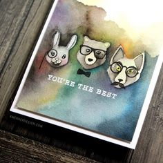 Watercolored these Hipster Animals in a video at my bloghellip