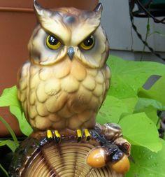 vintage-ceramic owl-home decor