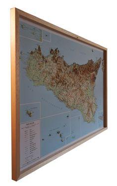 Sicily raised relief map www.raisedreliefmaps.eu/shop/regional-raised-relief-maps/sicily-region-raised-relief/
