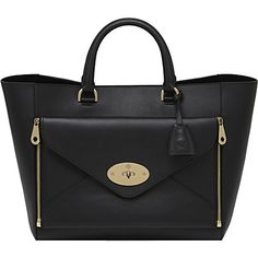 MULBERRY Willow silky calf leather tote (Black) One day... Oh my goodness the price