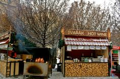 yummy! Warm wine,ham on the grill. 10 Centuries of celebrating Christmastime  Christmas market Old Town Square Prague | Christmas Markets: Old Town Square in Prague.