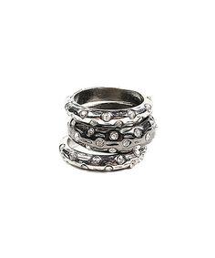 Another great find on #zulily! Silver & Gunmetal Boleyn Ring Set #zulilyfinds